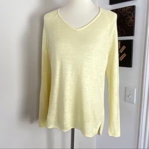 Eileen Fisher V-neck Pullover Sweater Yellow S